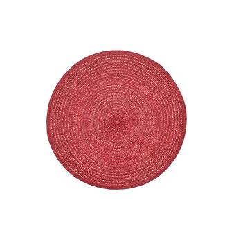 Tovaglietta rotonda in cotone mélange