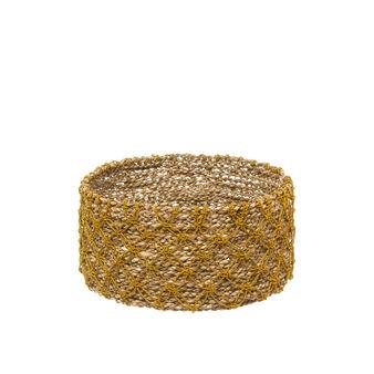 Cesto seagrass decorazione a rete