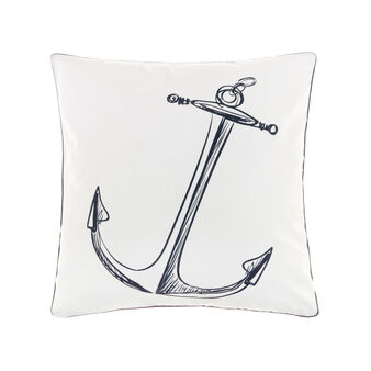 100% cotton cushion with nautical print