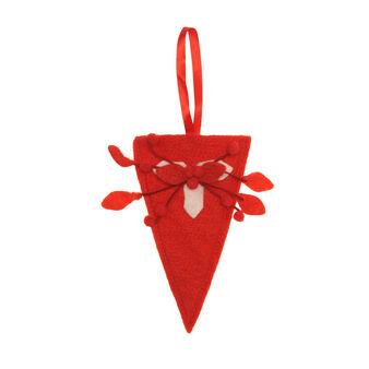 Cone-shaped cutlery holder in felt