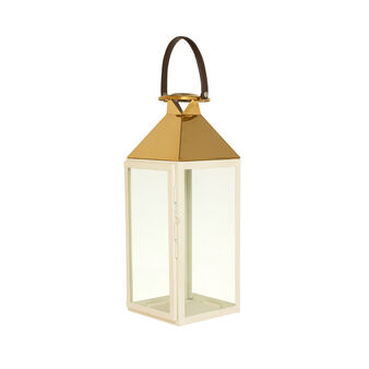 Lantern in gold and white metal