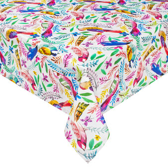 100% cotton water-repellent tropical birds tablecloth