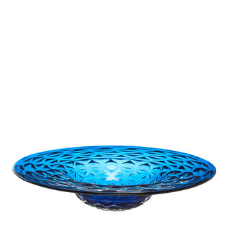 Decorative coloured glass plate with pattern