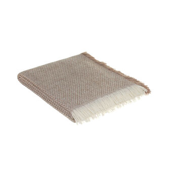 Portofino fringed alpaca throw