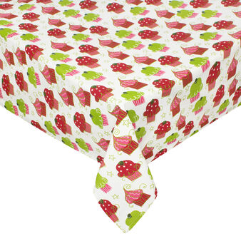 100% cotton tablecloth with Cupcakes print