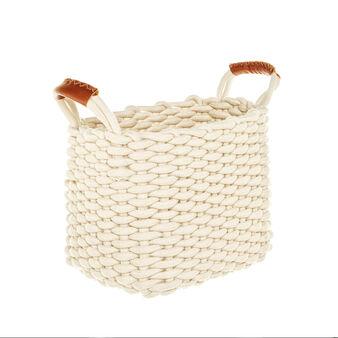Braided cotton rope basket