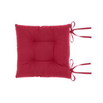 Cuscino sedia in puro cotone tinta unita