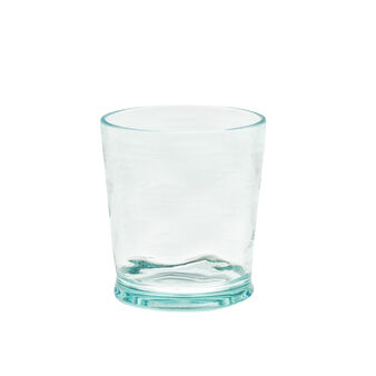 Hammered plastic glass