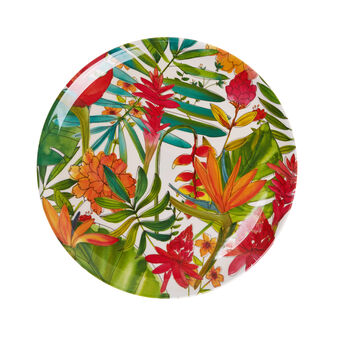 Tropical melamine serving platter.