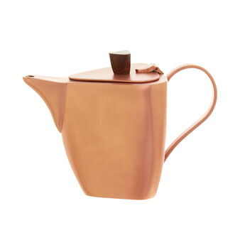 Triangular teapot in brass