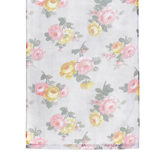 Curtain with digital floral print