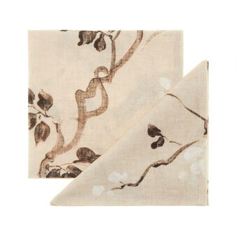 Peach tree two-pack 100% linen napkins with soft hand
