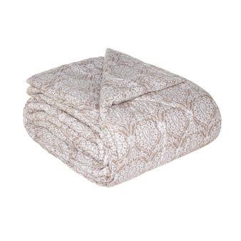 Trapunta rivestita cotone stampa damascata