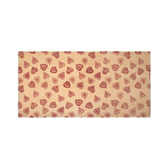 Fancy Hearts kitchen mat in cotton blend