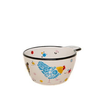 Small ceramic bowl with hen decoration