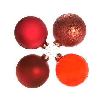 Set 4 palline natalizie in vetro colorato D 8cm