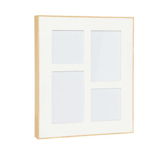 Wood fibre multiple photo frame
