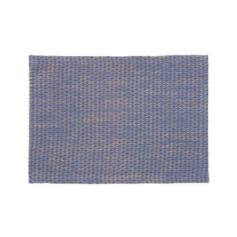 Woven cotton and jute table mat