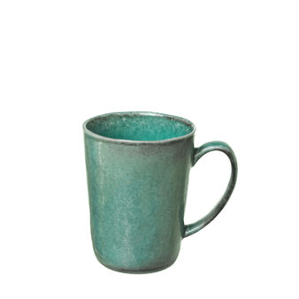 Light blue porcelain mug