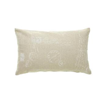 Printed cotton cushion