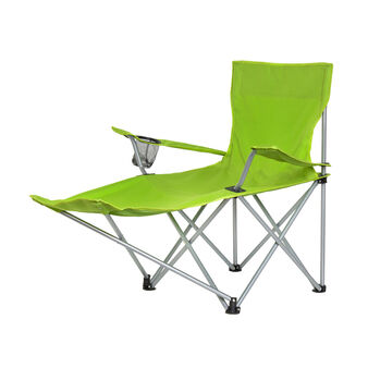Folding chair with foot stool