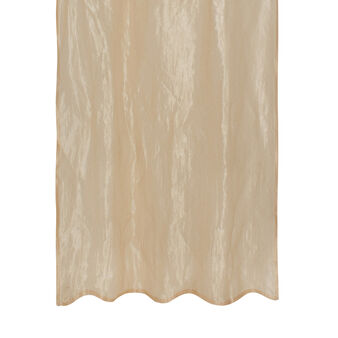 Curtain with metallised-effect lurex