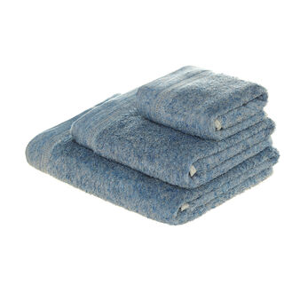 Silk-effect linen blend towel
