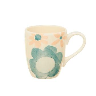 Watercolour-effect ceramic mug