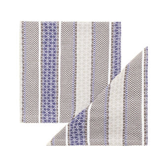 Set of two Net napkins with jacquard weave