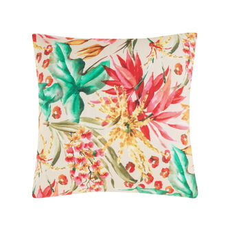 100% cotton cushion with tropical flower print