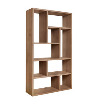 Natural elm wooden bookcase