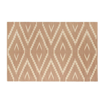Cotton rug with geometric pattern