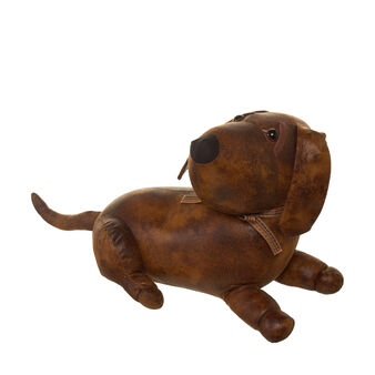 Dachshund doorstop with bow