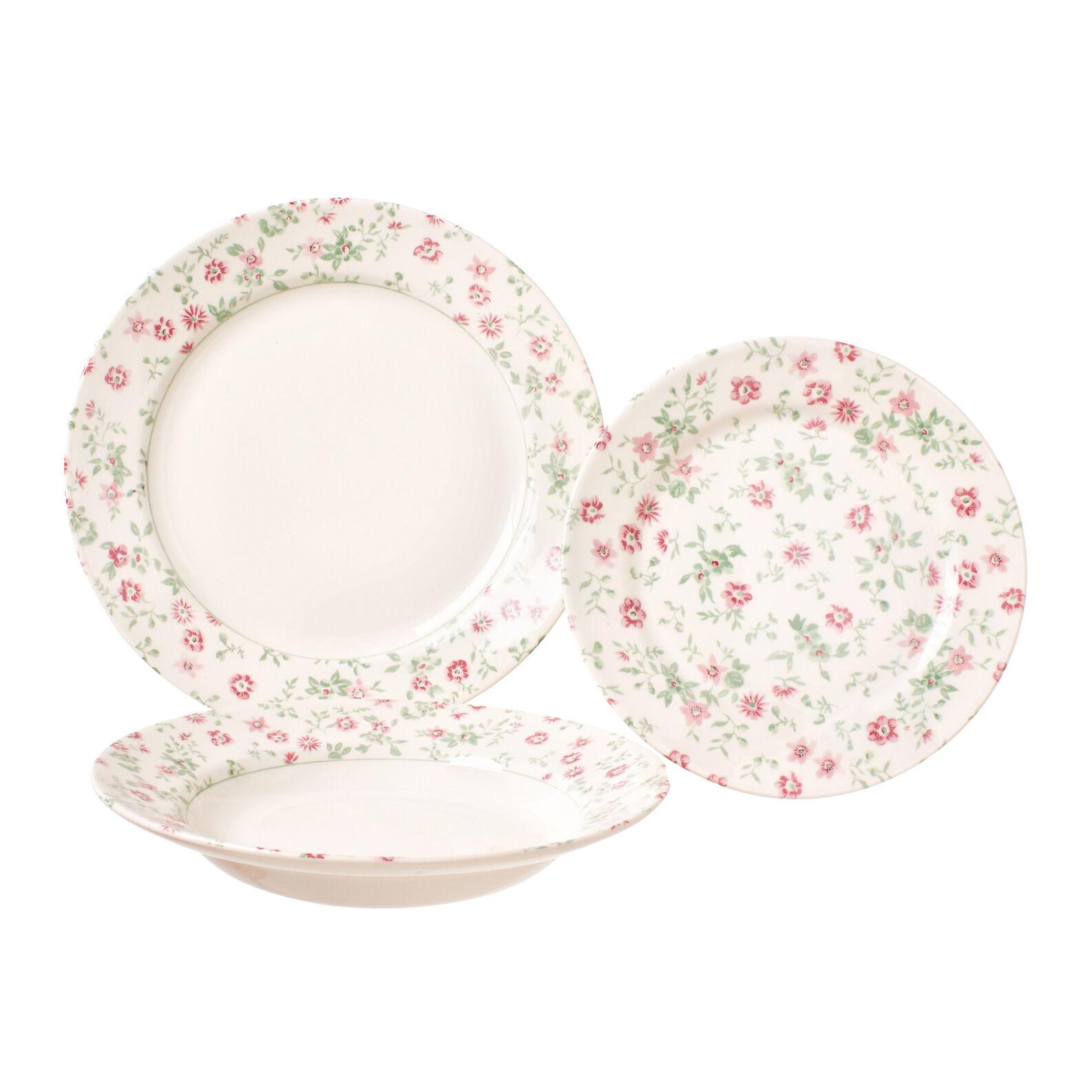 Set 18 piatti in ceramica decorazioni floreali coincasa for Decorazioni piatti