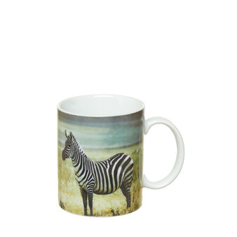 Porcelain mug with zebra print
