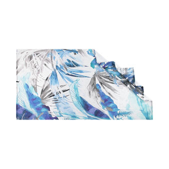 Beach towel in 100% cotton with tropical print