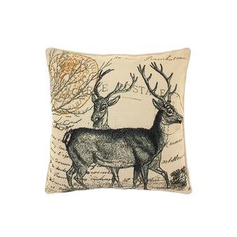 Cushion with vintage reindeer motif