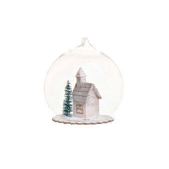 Glass bauble with house
