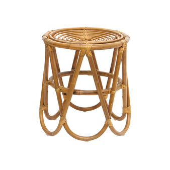 Rattan stool with geometric legs