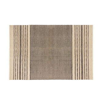 Jute and cotton ethnic style rug