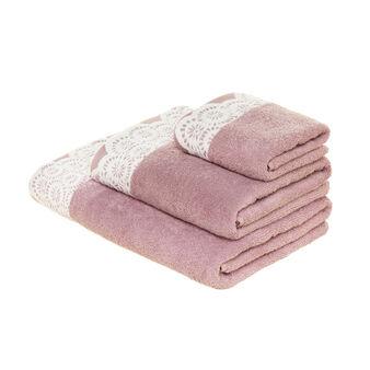 Asciugamano in cotone bordo jacquard