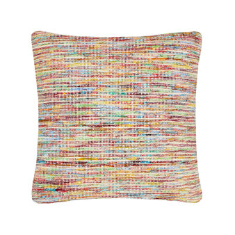 Multi-coloured patterned cushion