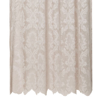 Damask lace curtain