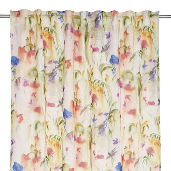 100% linen curtain with floral print
