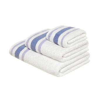 100% cotton towel with waffle weave edging