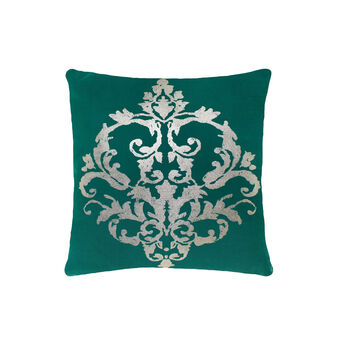Coated-effect silver cushion