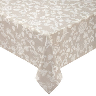 100% cotton tablecloth with marine print