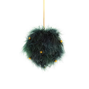 Ball decoration with small feathers D 11cm