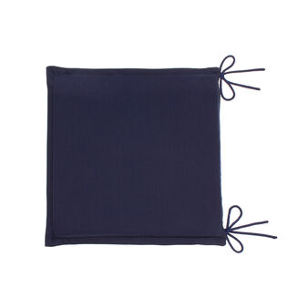 Seat pad with removable 100% cotton cover.