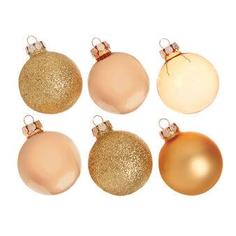 Set 6 palline natalizie in vetro colorato D 5cm